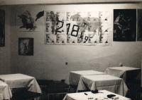 Exhibition in a pub
