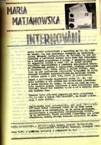 Samizdatový časopis Protější chodník / 1988