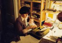 V redakci Bremer Blatt (80. léta)