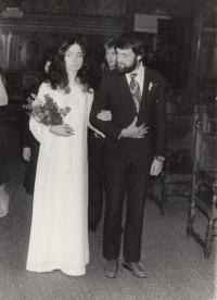 Tydlitátovi, svatba, 1982