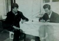 Fotis Bulguris s kamarádem