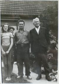 M. Hrubý - fotografie s otcem Jaroslavem