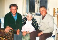 M. Hrubý s maminkou a bratrem Jaroslavem