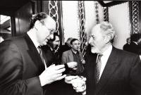 with M. Calfa, birthday party of Jicinsky, 1999