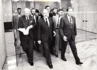 1991, odchod z předsednictva FS (foto Dorian Hanuš)