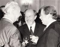 1989 - s Havlem a Dubčekem - po zvolení Havla prezidentem