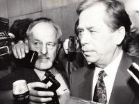 1989 s Václavem Havlem - po zvolení Havla prezidentem