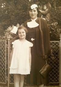 Katka Skálová with her mother