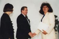 Ilona Ferková s prezidentem Havlem