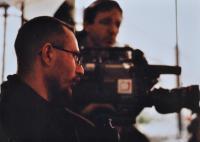 Jan Král při práci redaktora České televize v Ostravě / asi 1998
