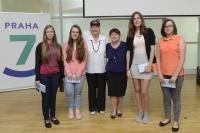 Libuše Šedinová na slavnostní prezentaci projektu Příběhy našich sousedů, květen 2017