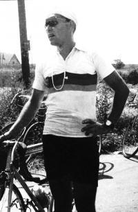 After cycling tournament Bratislava - Kúty - Bratislava in 1952