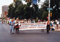 Welcoming of Slovak cycling team in Colorado 1986