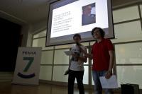 Filip Klíma a Jan Petránský představují příběh D.Binara na závěrečné prezentaci PNS ve Veletržním paláci, květen 2017