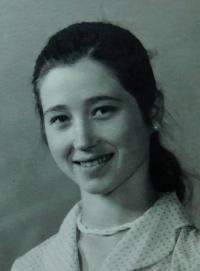 Irini Tcapas (Bulgurisová) v roce 1958 ve Vrbně pod Pradědem