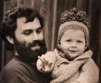Vladimír Buřt s prvorozeným synem
