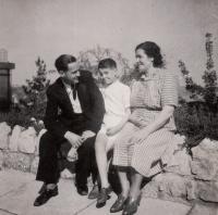 Family photograph, spring 1945