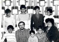 S manželem Petrem Brázdou a dětmi
