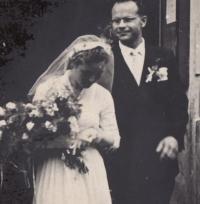 svatba Šlechtových, 1958