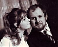 Eduard with his wife Ludmila, Teplice, 1980s