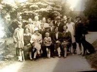 Rodina Fassmanů a Málků, začátek 30. let 20.stol.