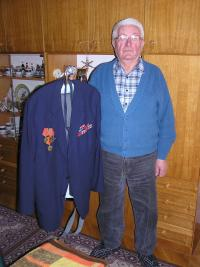 Michal Bindzar with a uniform of Legionary, March 2007