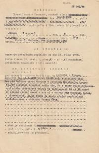 Usnesení okresního soudu v Trutnově