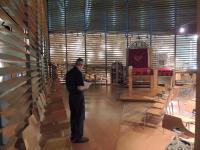 Michal Hron v Nové synagoze v Liberci
