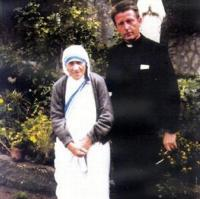 father Košút with Mother Theresa
