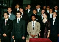 Graduation ceremony. Igor Dužda in the second row, the third from the left.