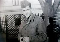 Vincent Dorník - photo from criminal military service (1950)
