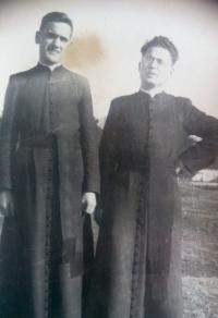 Vincent Dorník - photo from student times in Spišská Kapitula (1949)