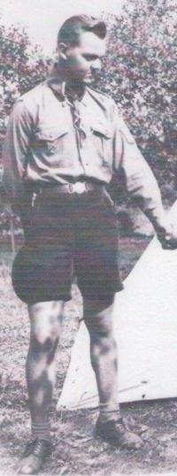 Oldřich Kafuněk na skautském Jamboree ve Francii
