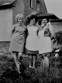 Květoslava Blahutová on the right / probably 1970s