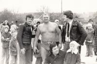 1977, s kolegou otužilcem Fr. Venclovským