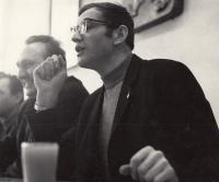 Jan Kůrka na besedě po olympiádě, rok 1968