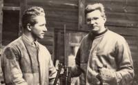 Jan Kůrka s trenérem Vladimírem Stiboříkem