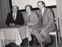 Jan Kůrka s Emilem a Danou Zátopkovými, rok 1984