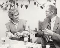 Jan Kůrka s Věrou Čáslavskou, rok 1982