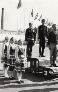 Jan Kůrka jako druhý na mistrovství spřátelených armád, rok 1974