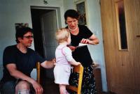 Naděžda se synem Michalem a vnučkou
