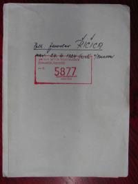 Úvodní list z osobního spisu Řičici v Archivu bezpečnostních složek