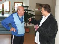 Jaroslav Řičica během natáčení v roce 2007 s redaktorem Mikulášem Kroupou