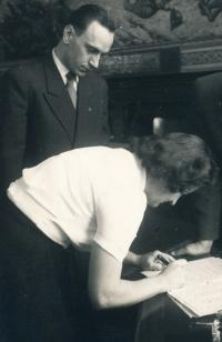 Manželé Pacinovi, svatba 1951