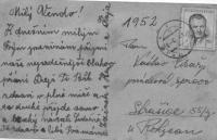 Dopis od maminky synovi Václavu Císařovi do Strašic, kde byl nasazen u PTP