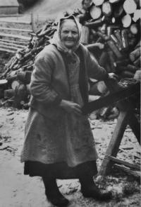 Františka Bannertová / rozená Seidlová / babička Josefa Bannerta / 60. léta