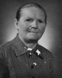 Františka Bannertová / babička Josefa Bannerta / po válce