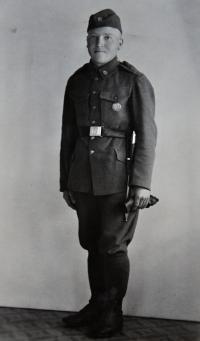 Johan Bannert / nejstarší strých Josefa Bannerta / za 1. republiky voják Československé armády