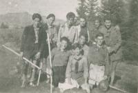 Ha Šomer Hacair, Mikuláš second left, about 1938