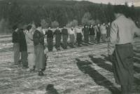 Preparing for Alia - emigration to Israel, Mikuláš first left in a cap, about 1947